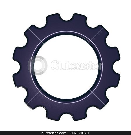 cogwheel stock photo, gear wheel on white background - 3d illustration by J?