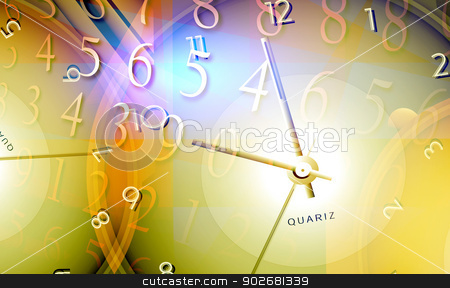 Time stock photo, Close up of clock and time concept by Janaka Dharmasena