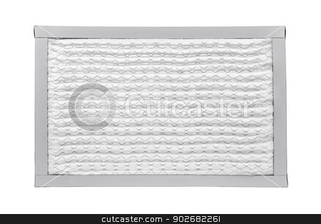Furnace filter stock photo, New furnace filter isolated on white background by Elena Elisseeva