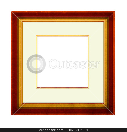 Picture Frame stock photo, Close up of wood Picture Frame with mount by Janaka Dharmasena