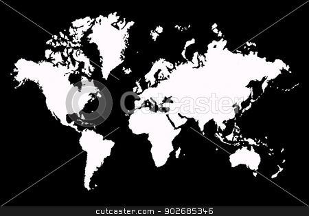 Map old stock photo, Close up of Vintage world map  2D art by Janaka Dharmasena