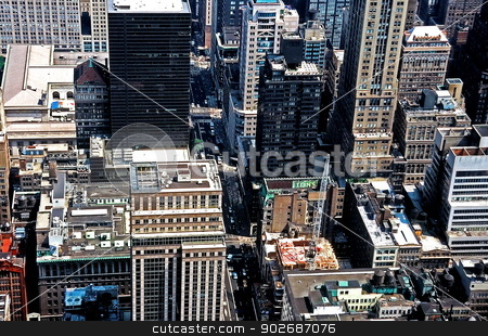 New York City Aerial stock photo, Aeriel shot of New York City overlooking Manhattan by Anthony Dezenzio