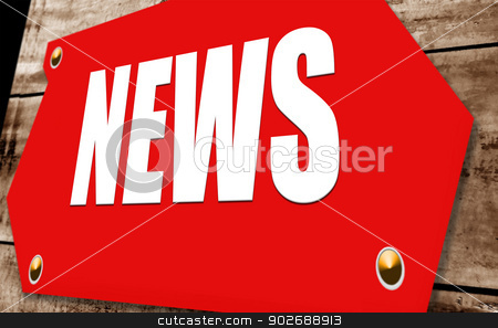 News sign stock photo, 2D illustration of a  news sign by Janaka Dharmasena