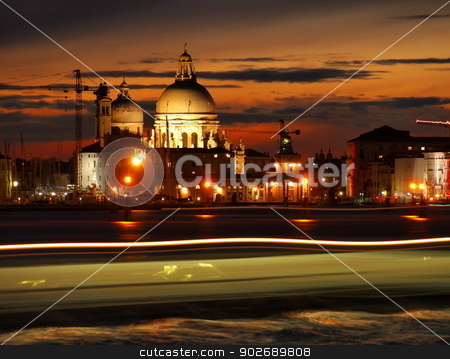 Venice stock photo, Night view of Venice, city of love, canals and beautiful architecture. by Karol Kozlowski