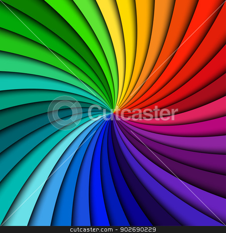 Colorful rainbow swirl stock vector clipart, Colorful rainbow swirl by kurkalukas