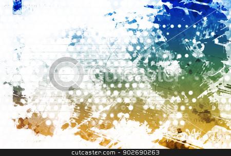 Artistic Grunge Splatter stock photo, Artistic Grunge Splatter with Print Pattern Art by Kheng Ho Toh