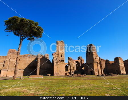 Thermes de Caracalla, Rome, Italy stock photo, Thermes de Caracalla - ancient landmark in Rome, Italy by Karol Kozlowski