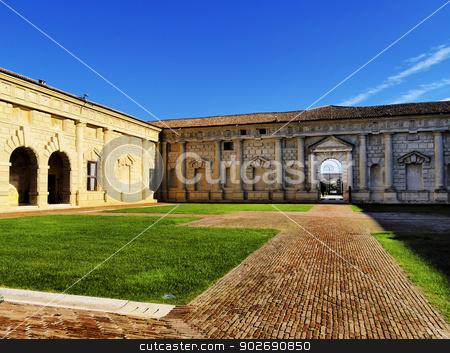 Palazzo Te, Mantua stock photo, Mantova Palazzo Te - famous palace in Mantua, Lombardy, Italy        by Karol Kozlowski