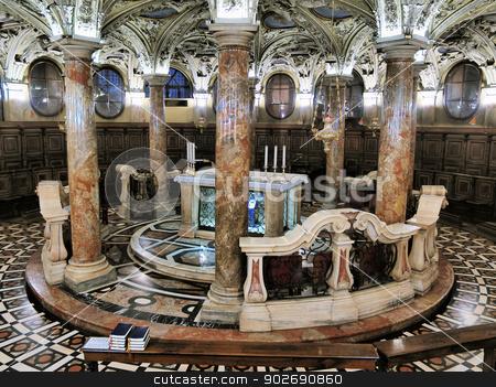 Interior of Cathedral in Milan stock photo, Cathedral in Milan - beautifully decorated interior, Lombardy, Italy by Karol Kozlowski