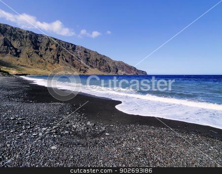 Playas, Hierro Island stock photo, Las Playas Cliffs and Beach on Hierro, Canary Islands, Spain by Karol Kozlowski