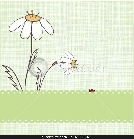 Ladybird on the green grass. stock photo, Ladybird on the green grass. by Maria Cherevan