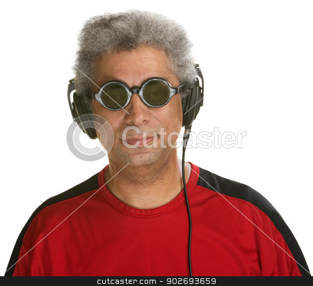 Easygoing Man with Headphones stock photo, Easygoing Arab man with sunglasses and headphones by Scott Griessel