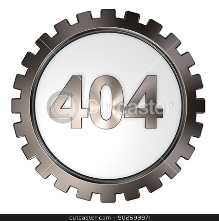 error 404 stock photo, error 404 page not found - message and gear wheel - 3d illustration by J?