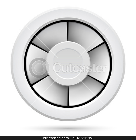 Electric fan stock photo, Icon of Electric fan. Illustration on white background by dvarg