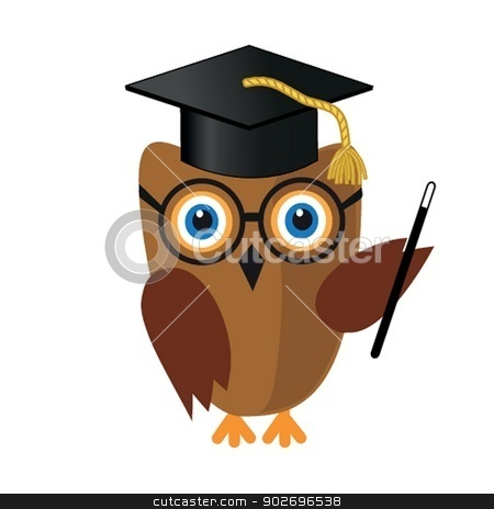 illustration of a funny character owl stock photo, illustration of a funny character owl by Maria Cherevan