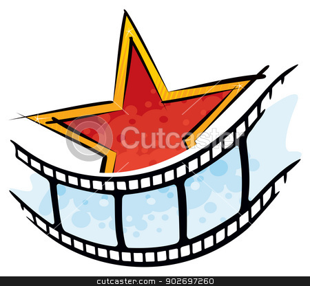 Cinema symbol stock vector clipart, Movie symbol created in graffiti style by Oxygen64