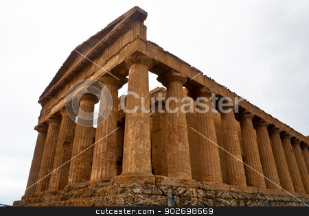 The ruins of Temple of Concordia, Agrigento stock photo, The ruins of Temple of Concordia, Valey of temples, Agrigento, Sicily, Italy by Gandolfo Cannatella