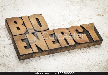 bioenergy word in wood type stock photo, bioenergy word in vintage letterpress wood type on a ceramic tile background by Marek Uliasz