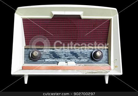 vintage radio stock photo, vintage radio isolated on black background by Vichaya Kiatying-Angsulee