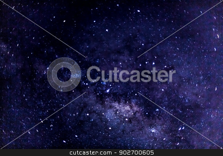 Milky way stock photo, A look at a portion of the milky way galaxy filled with stars and planets by derejeb