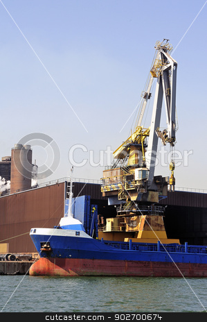 Industry stock photo, Industry on the wearing of Fos-sur-Mer beside Marseille. by Paire