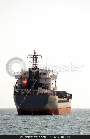 tanker on standby stock photo, tanker on standby to discharge its cargo in France with the wearing of Fos-sur-Mer beside Marseille. by Paire