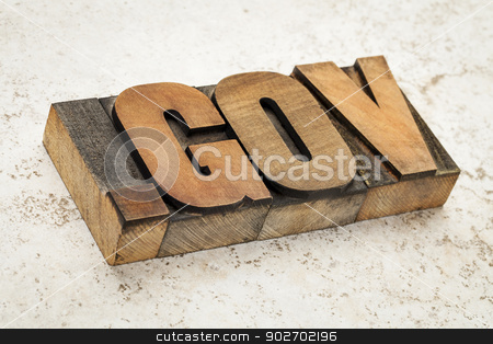 dot gov internet domain stock photo, dot gov internet domain  - network address  for government-  in vintage letterpress wood type on ceramic tile background by Marek Uliasz