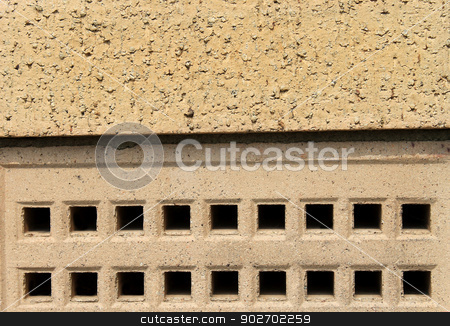 Air brick on building stock photo, Closeup of air brick on modern building. by Martin Crowdy