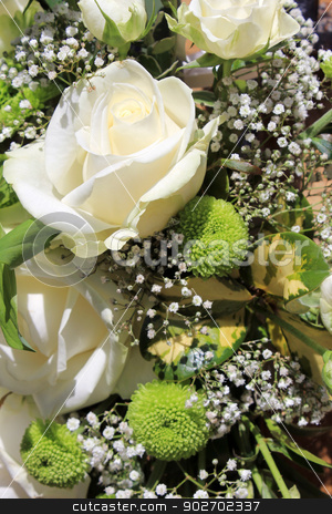 Flower bouquet stock photo, Closeup of beautiful flower bouquet background. by Martin Crowdy