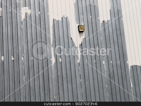 Industrial building stock photo, Exterior of old industrial warehouse building. by Martin Crowdy