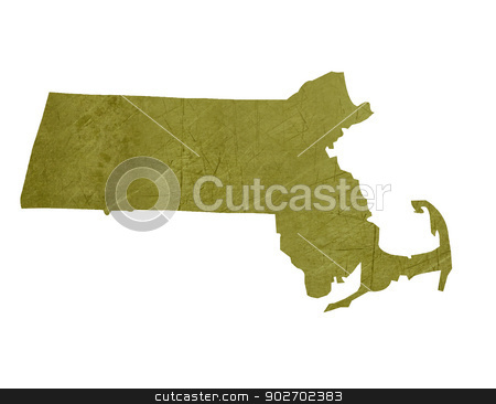 State of Massachusetts stock photo, American state of Massachusetts isolated on white background with clipping path. by Martin Crowdy