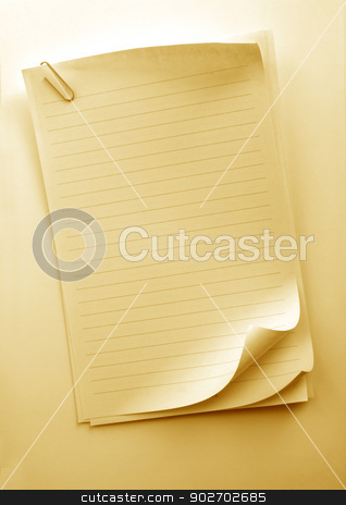 Note Book stock photo, Writing note paper on gradient background by Janaka Dharmasena