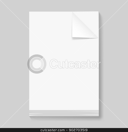Stack of blank papers  stock photo, Stack of blank papers. Illustration on grey background for design by dvarg