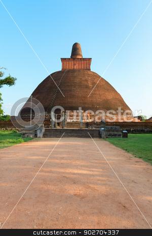 Jethawanaramaya dagoba (stupa). Anuradhapura, Sri Lanka stock photo, Jethawanaramaya or Jetavanarama dagoba (stupa). Anuradhapura, Sri Lanka by Iryna Rasko