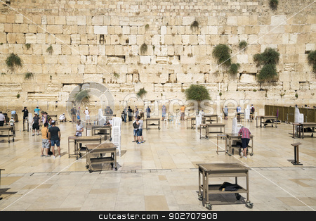 the western wall in jerusalem israel stock photo, the western wall holy site in jerusalem israel by travelphotography