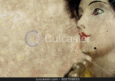 antique doll background stock photo, antique doll background by Sarka