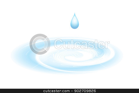 Water drop isolated on white stock photo, Water drop isolated on white. Vector illustration by sermax55