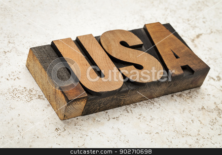dot USA internet concept stock photo, dot USA - internet concept - fictitious  domain address (not .us) - letterpress wood type on ceramic tile background by Marek Uliasz