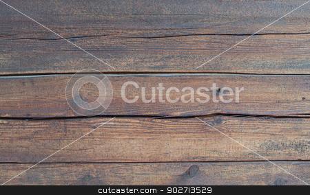 Timber wall closeup. stock photo, Weathered timber wall closeup with cracks. by ArtesiaWells