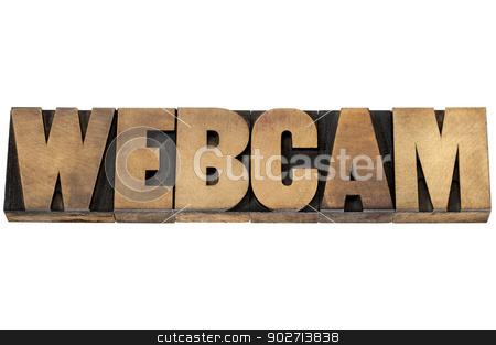 webcam word in wood type stock photo, webcam - web video camera - isolated text in letterpress wood type by Marek Uliasz