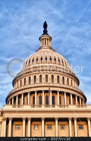 US Capitol Building Dome stock photo, The United States Congress Dome on the mall in Washington D.C. by Kevin Tietz