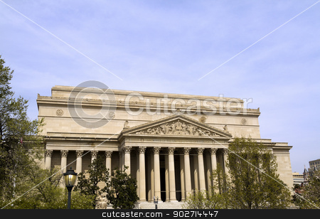 USA National Archives Building stock photo, The Front of the National Archives in Washington DC by Kevin Tietz