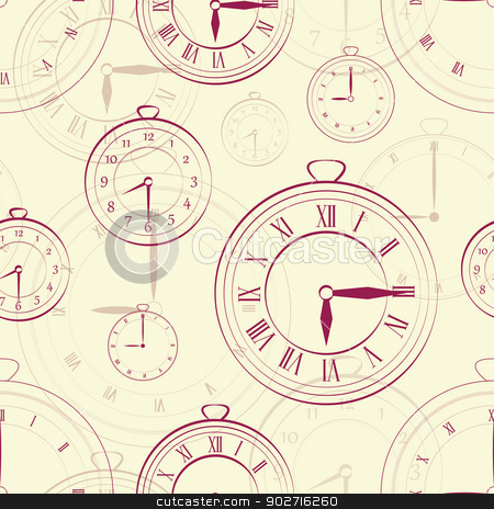 Watch vintage seamless over black bakground stock vector clipart, EPS 10 vector file. Watch vintage seamless over black bakground by Lutya