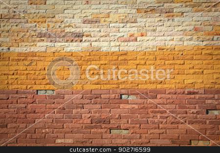 Pattern of colorful Modern Brick Wall Surfaced stock photo, Pattern of colorful Modern Brick Wall Surfaced by Vichaya Kiatying-Angsulee