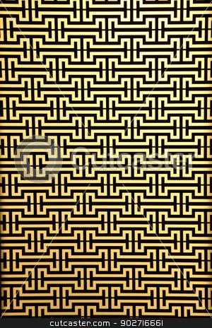 widows steel rod pattern on yellow stock photo, widows steel rod pattern on yellow by Vichaya Kiatying-Angsulee