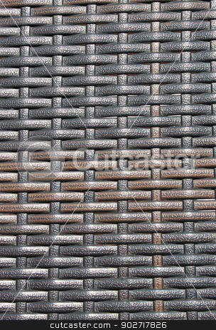 Abstract wicker background stock photo, Overhead view of abstract wicker background. by Martin Crowdy