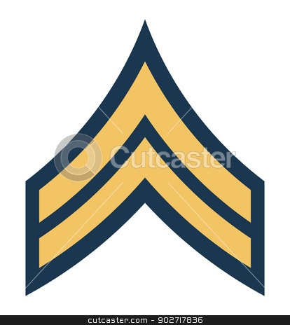 American Corporal insignia rank badge stock photo, American Corporal insignia rank badge isolated on white background.  by Martin Crowdy