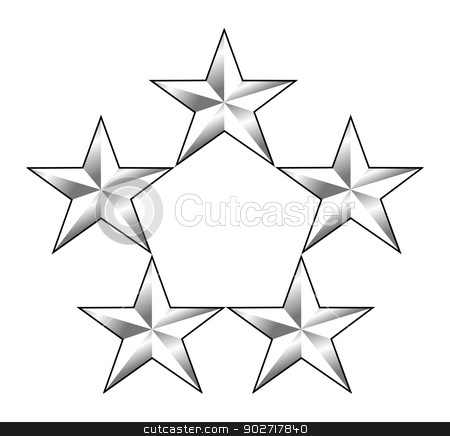 American General insignia rank badge stock photo, American General insignia rank badge isolated on white background.  by Martin Crowdy