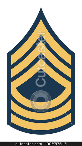 American Master Sergeant insignia rank badge stock photo, American Master Sergeant insignia rank badge isolated on white background. by Martin Crowdy