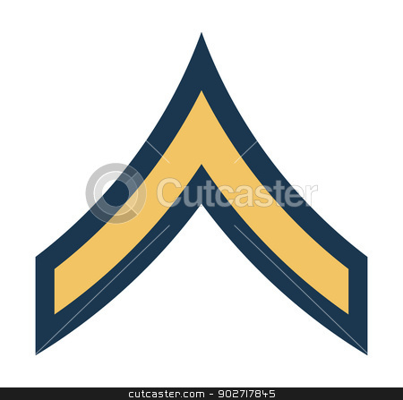 American Private insignia rank badge stock photo, American Private insignia rank badge isolated on white background.  by Martin Crowdy